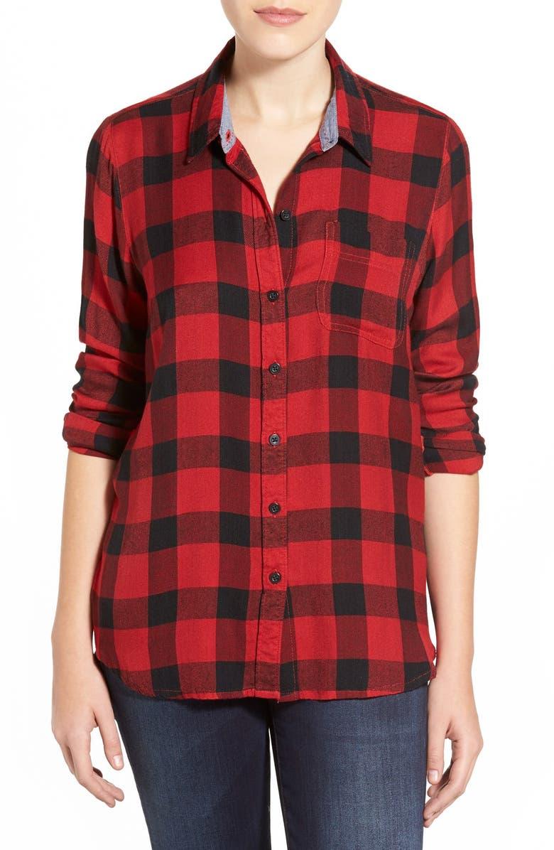 LUCKY BRAND 'Bungalow' Plaid Button Back Shirt, Main, color, 610