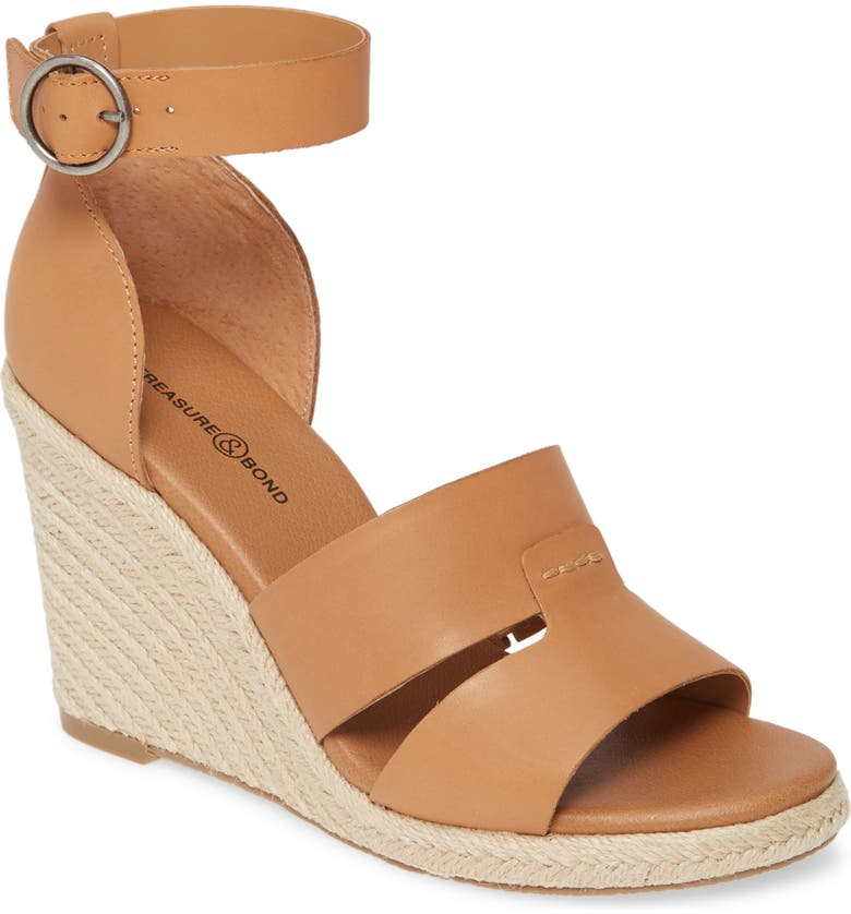 TREASURE & BOND Penelope Espadrille Sandal, Main, color, TAN LEATHER