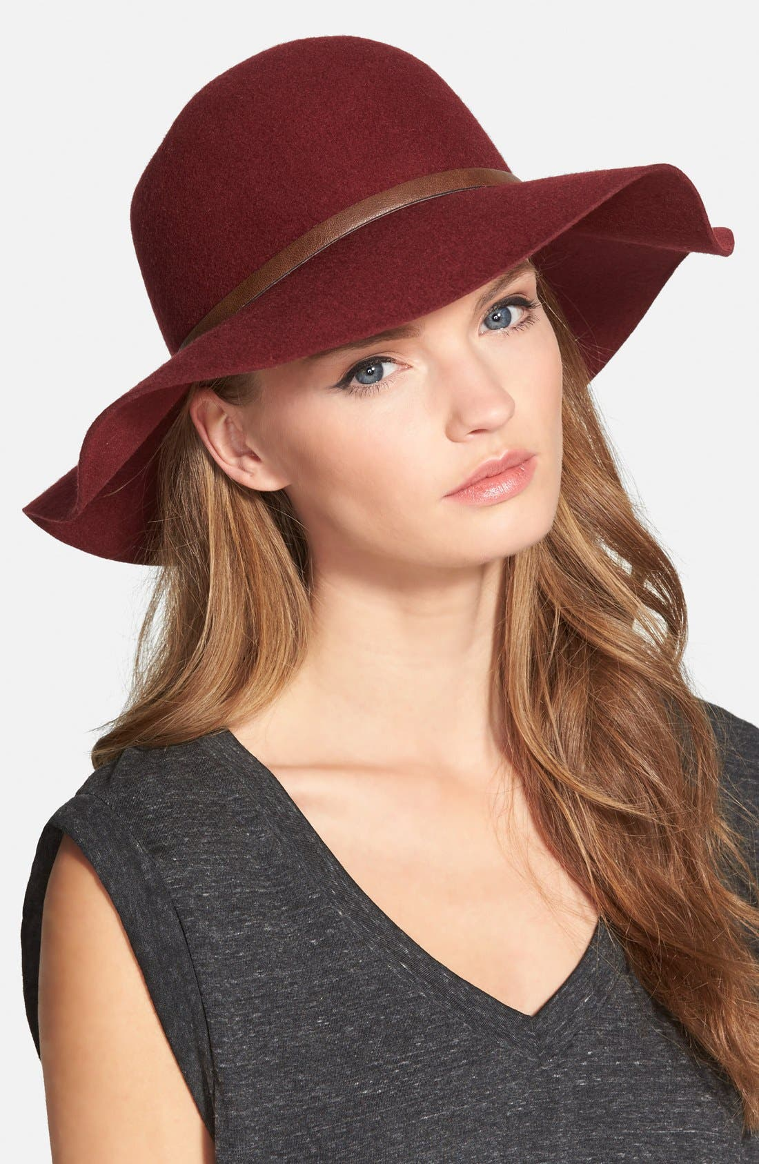 ,                             Floppy Wool Hat,                             Main thumbnail 33, color,                             930