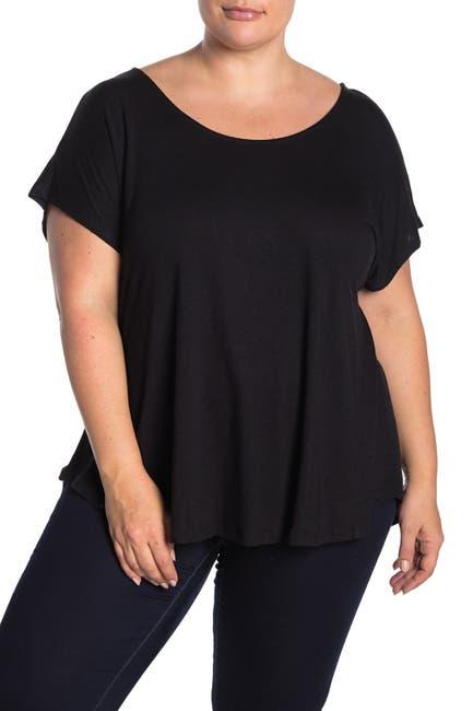 Image of Bobeau Cross Back Short Sleeve Slub T-Shirt