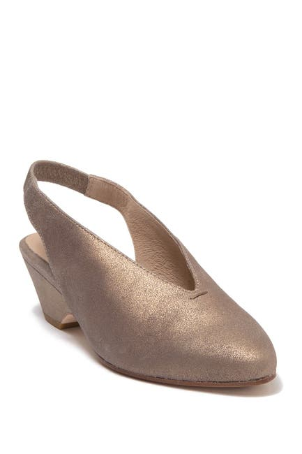 Image of Eileen Fisher Gatwick Metallic Leather Slingback Sandal