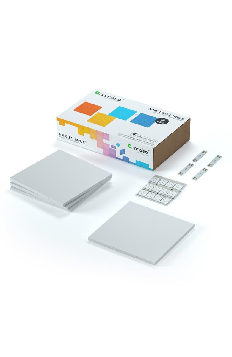 NANOLEAF 4-Piece Canvas Light Squares Expansion Pack, Main, color, MULTI