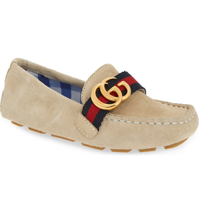 GUCCI Noel Driving Loafer, Main, color, VINTAGE WHITE