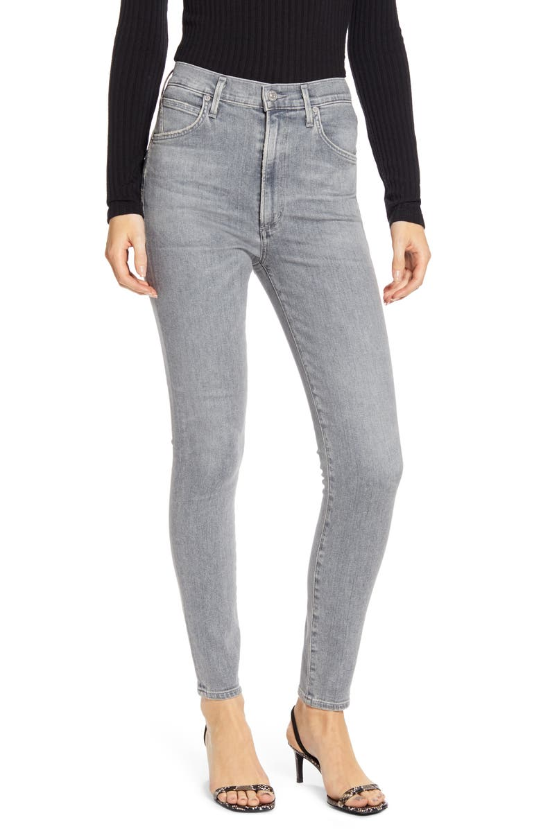 CITIZENS OF HUMANITY Chrissy High Waist Skinny Jeans, Main, color, COSMIC
