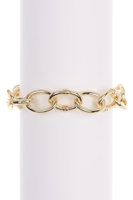 Image of Lauren Ralph Lauren Script Charm Link Bracelet