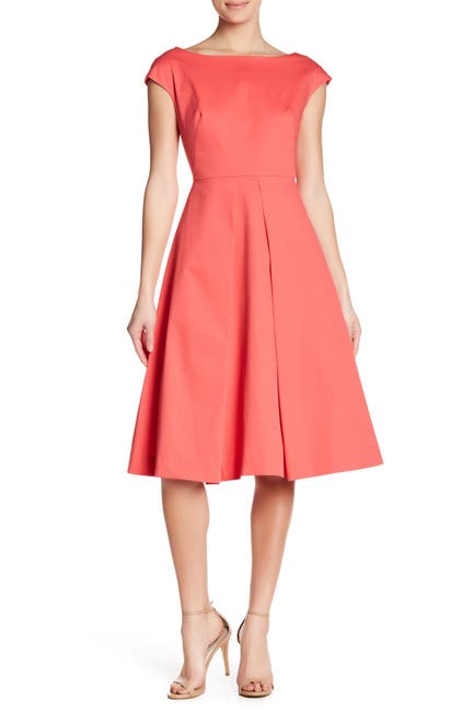 Image of MILLY Clara Boatneck Fit & Flare Dress