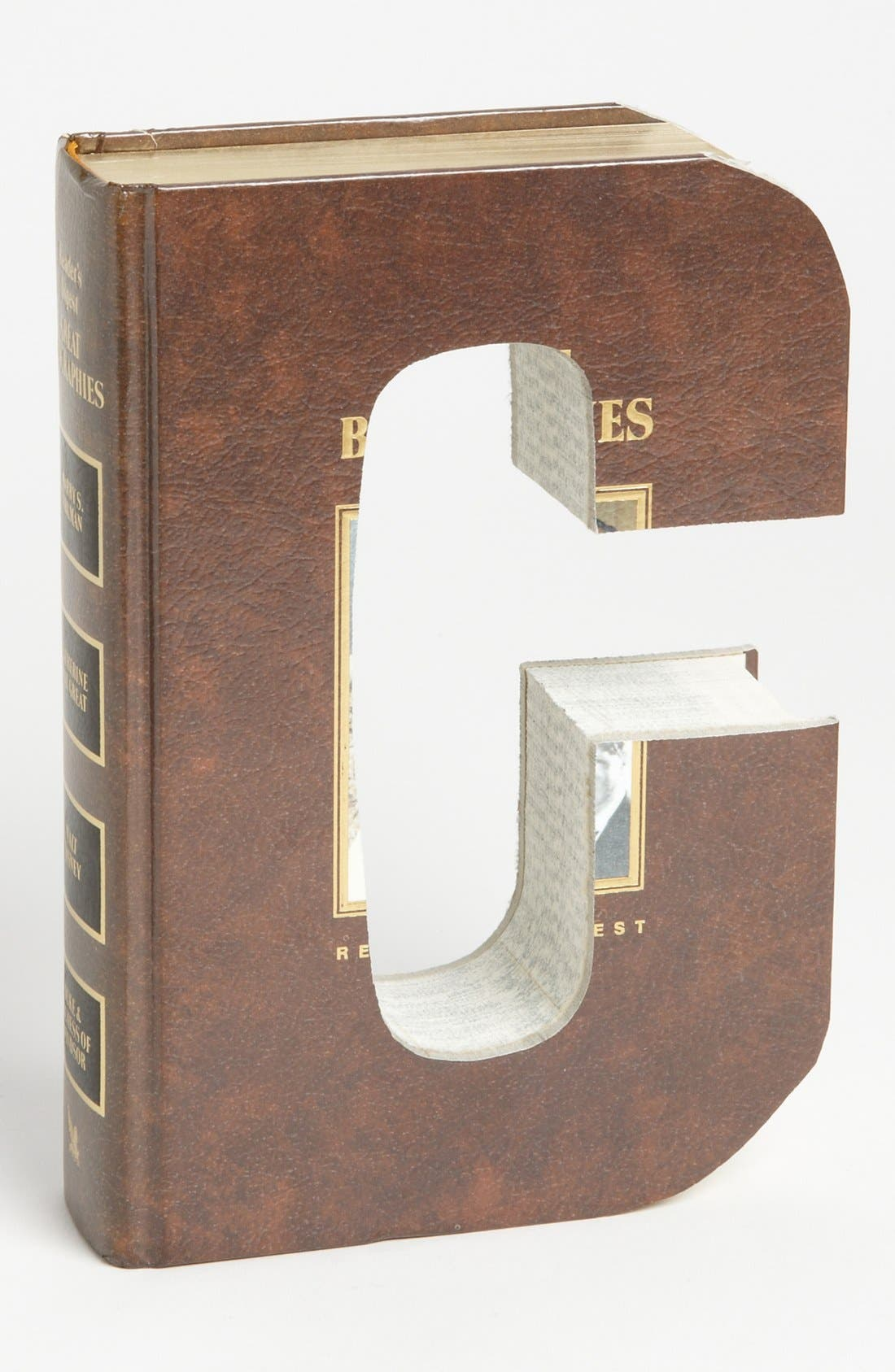 ,                             'One of a Kind Letter' Hand-Carved Recycled Book Shelf Art,                             Main thumbnail 11, color,                             202