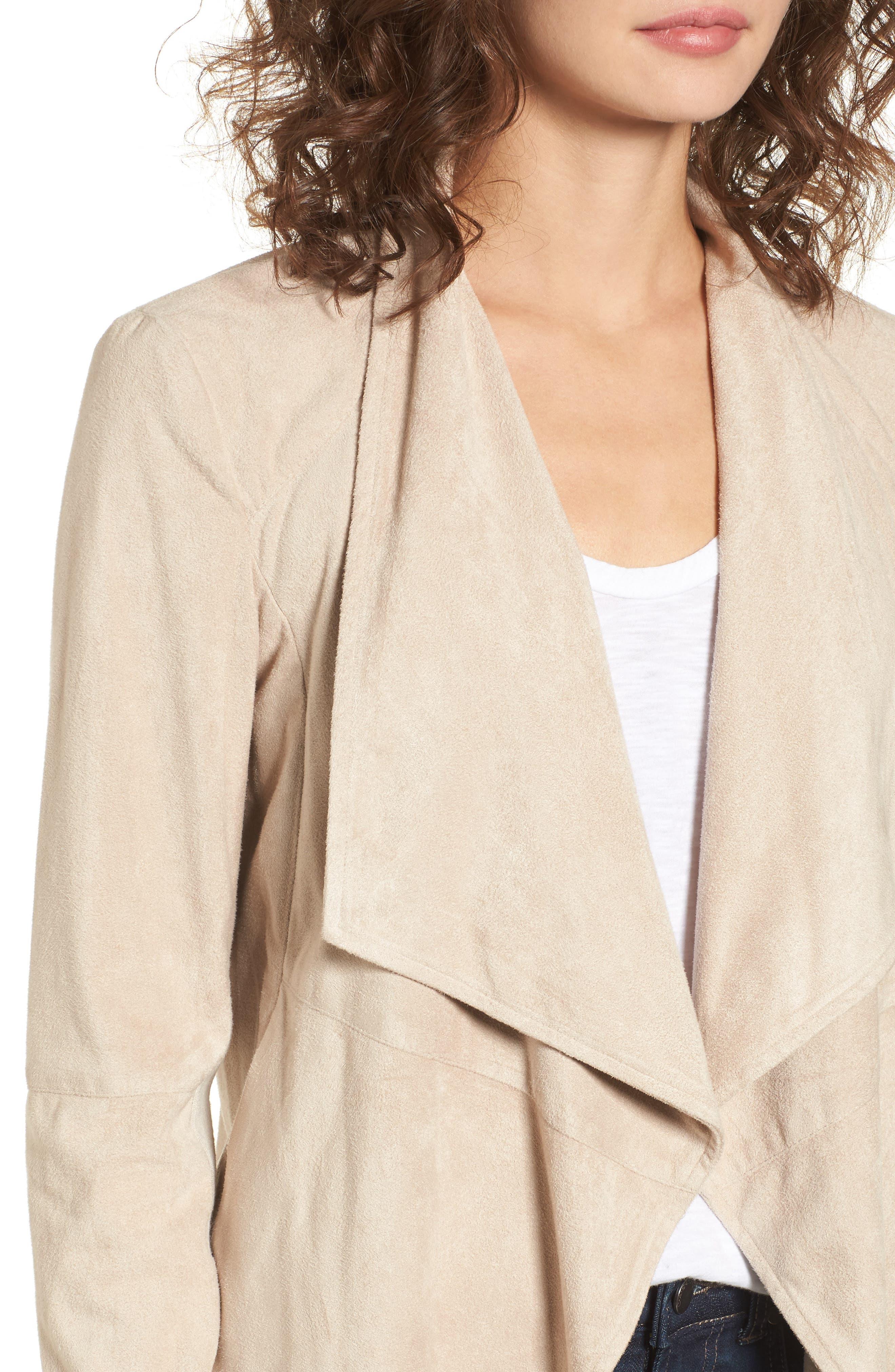 ,                             Nicholson Faux Suede Drape Front Jacket,                             Alternate thumbnail 67, color,                             905