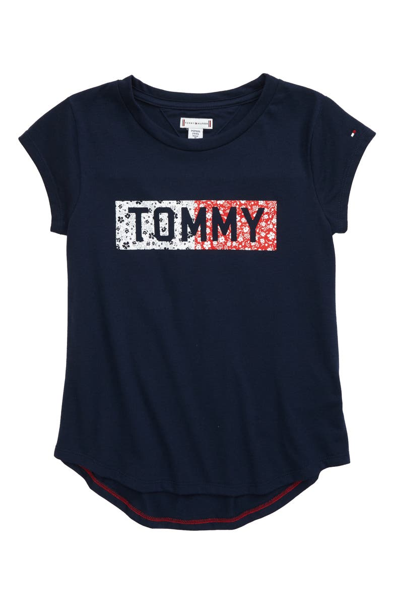 TOMMY HILFIGER Ditsy Flag Graphic Tee, Main, color, 405