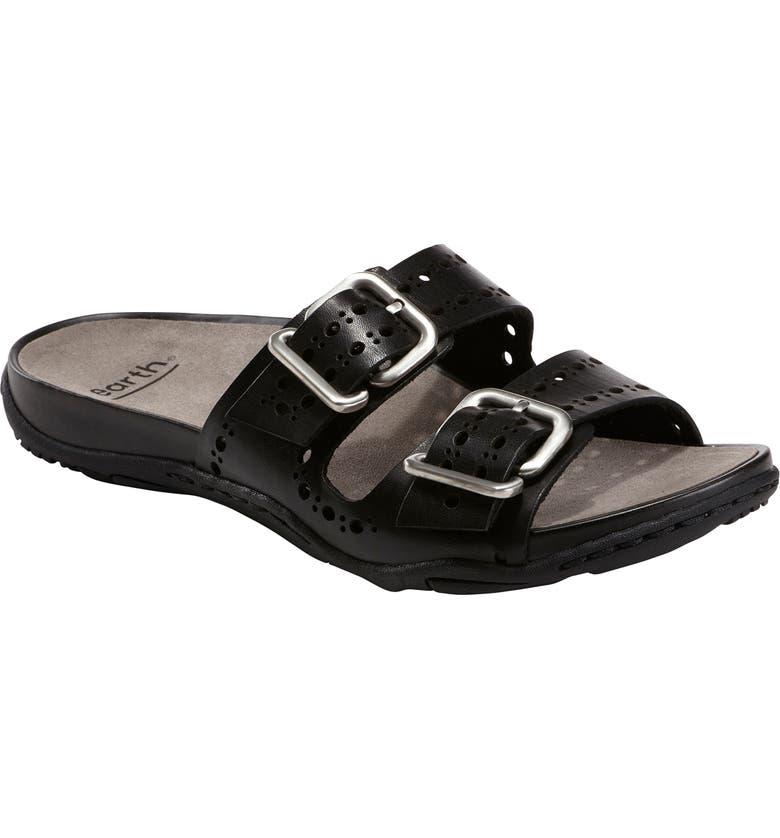 EARTH<SUP>®</SUP> Havana Slide Sandal, Main, color, BLACK LEATHER