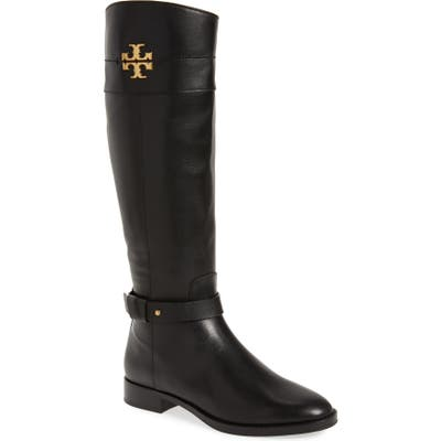 Tory Burch Everly Knee High Boot Regular Calf- Black
