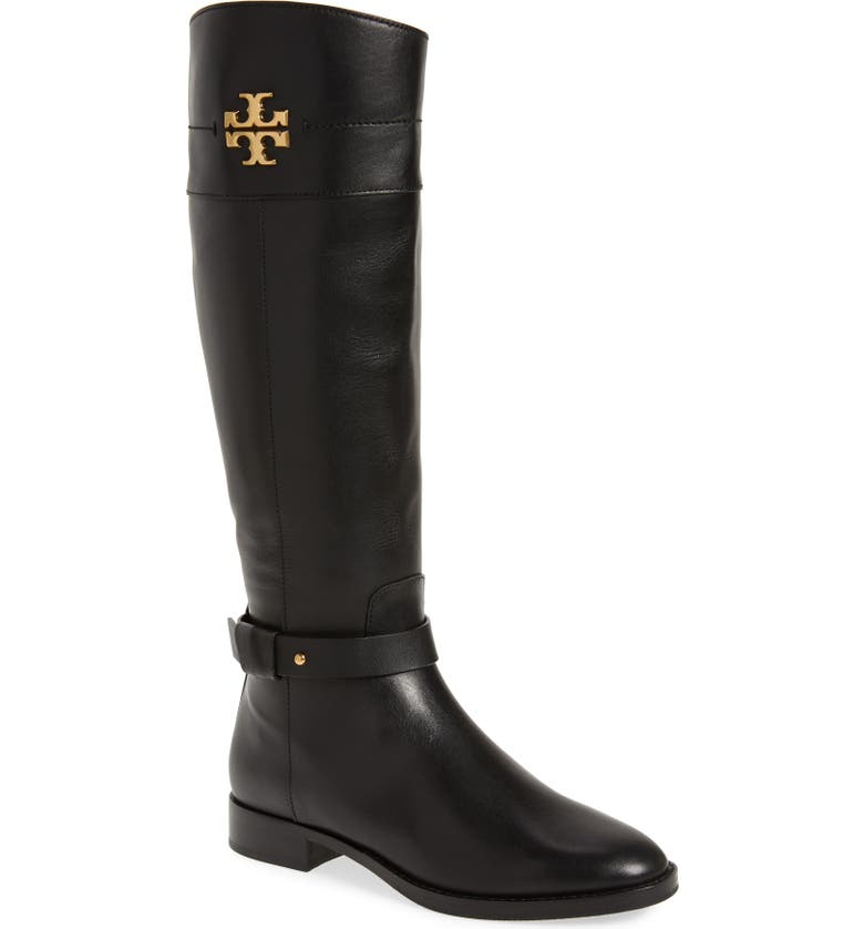 TORY BURCH Everly Riding Boot, Main, color, PERFECT BLACK/ PERFECT BLACK