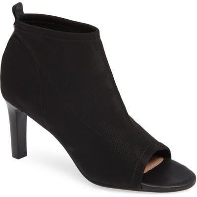 Taryn Rose Helene Peep Toe Bootie- Black