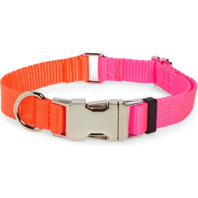 Ware Of The Dog Two-Tone Nylon Dog Collar, Pink