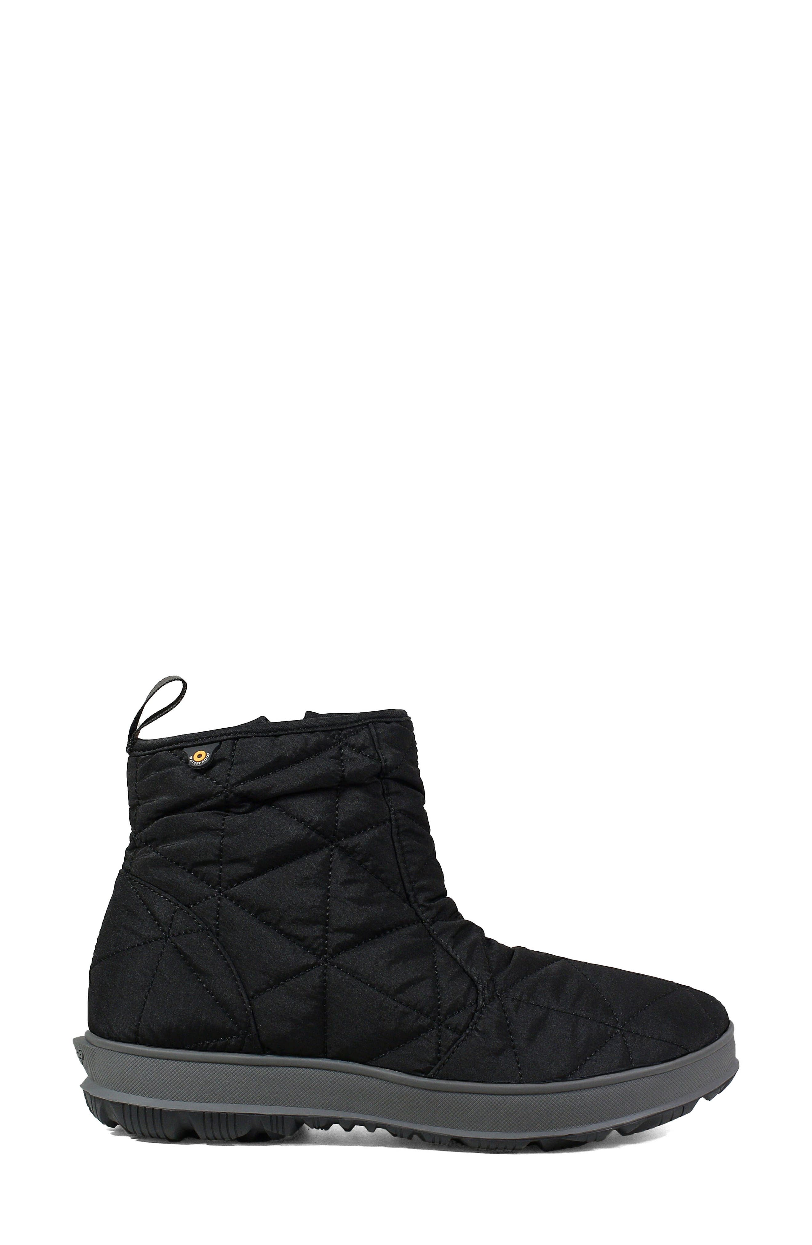 ,                             Snowday Waterproof Quilted Snow Boot,                             Alternate thumbnail 3, color,                             001