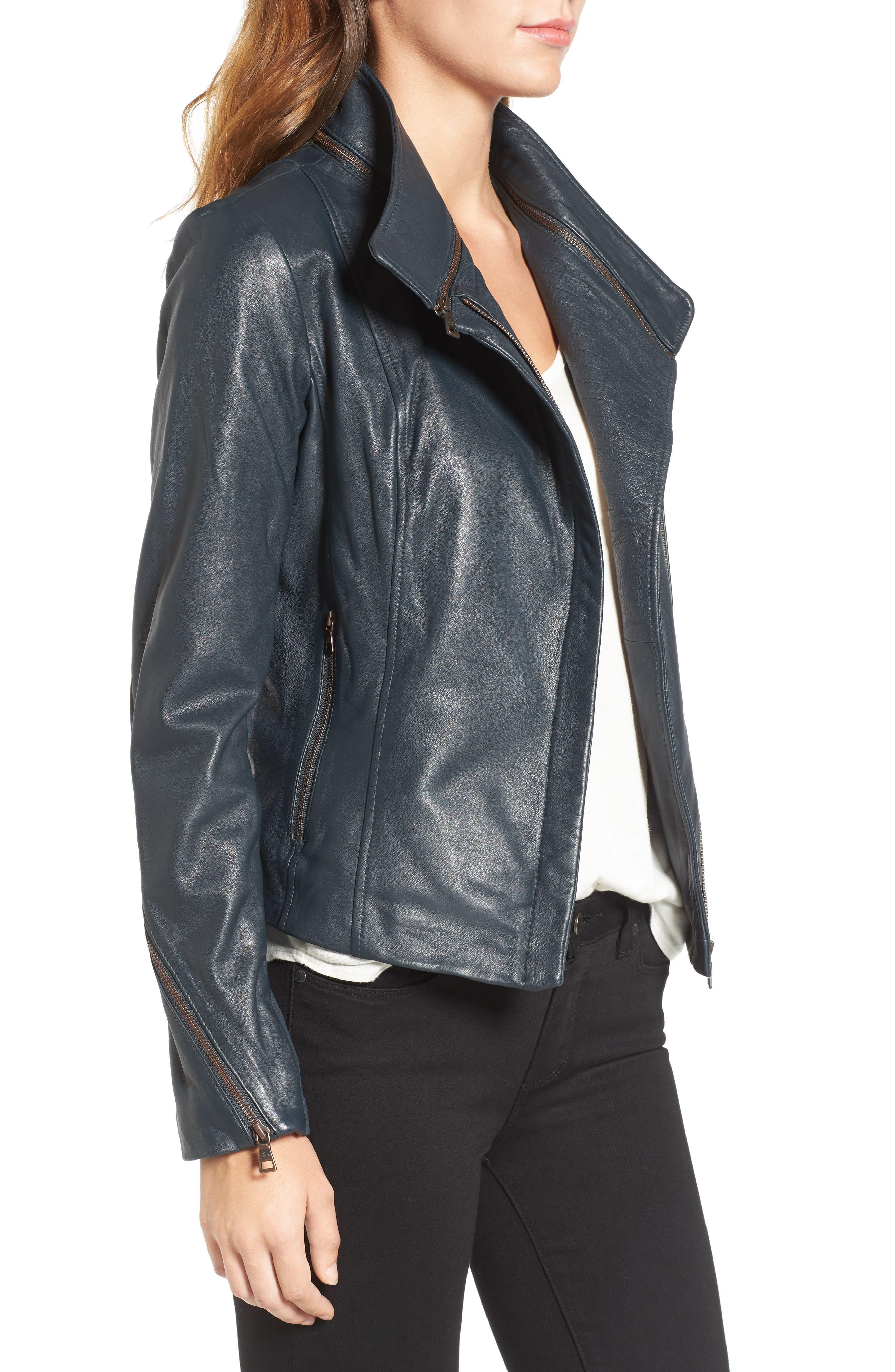 ,                             Zip Detail Moto Jacket,                             Alternate thumbnail 6, color,                             431