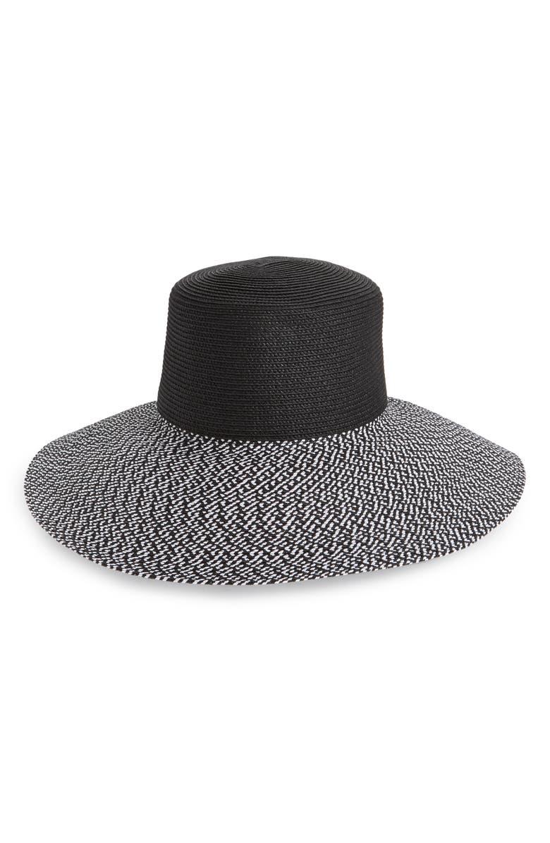 NORDSTROM Sun Hat, Main, color, BLACK COMBO