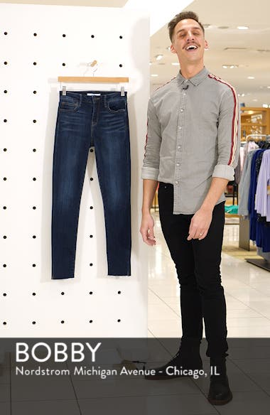 The Kitten Split Hem Ankle Skinny Jeans, sales video thumbnail