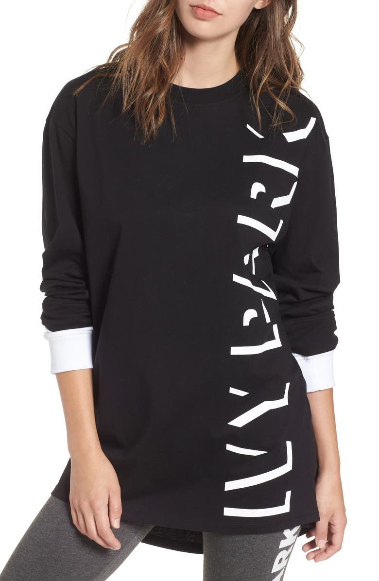 IVY PARK<SUP>®</SUP> Shadow Logo Boyfriend Pullover, Main, color, 001