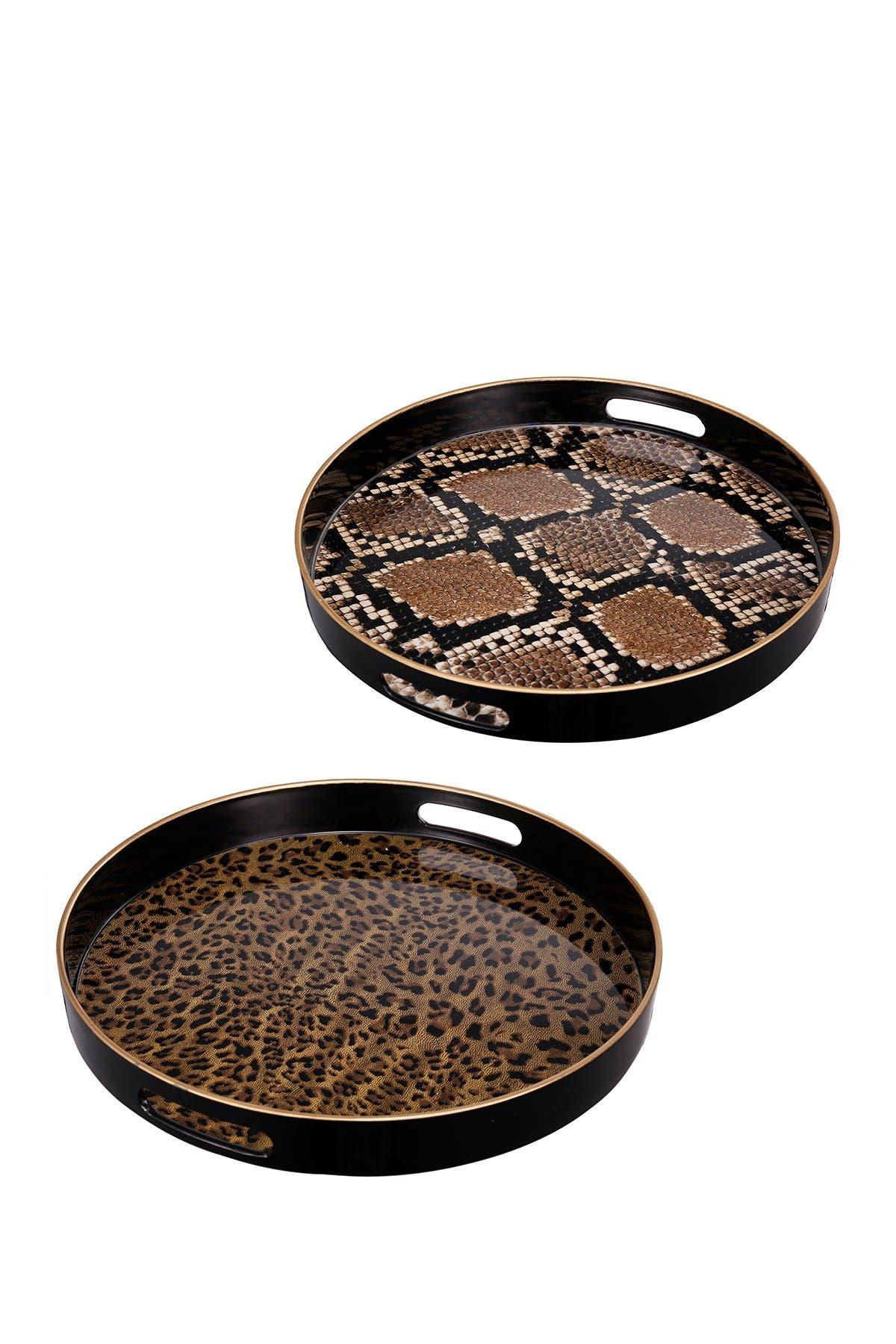 Image of R16 HOME Safari Decorative Trays - Set of 2
