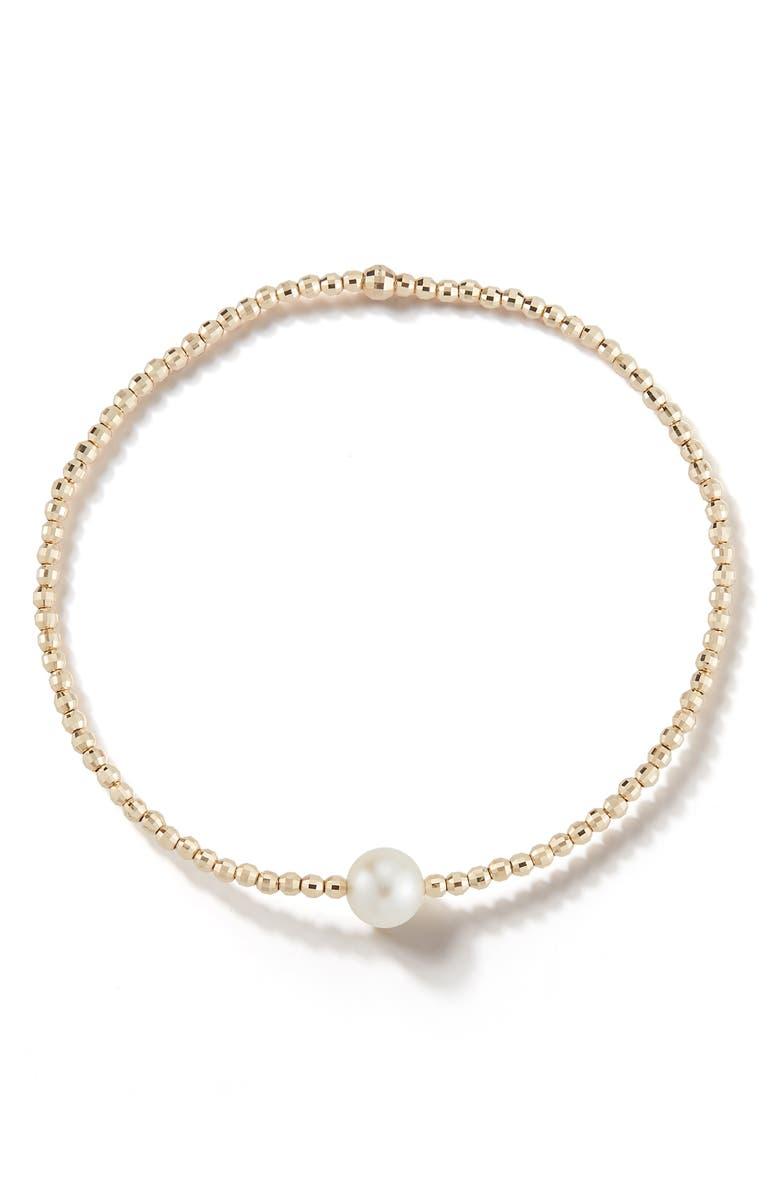 MIZUKI Sea of Beauty White Akoya Single Pearl Bracelet, Main, color, PEARL