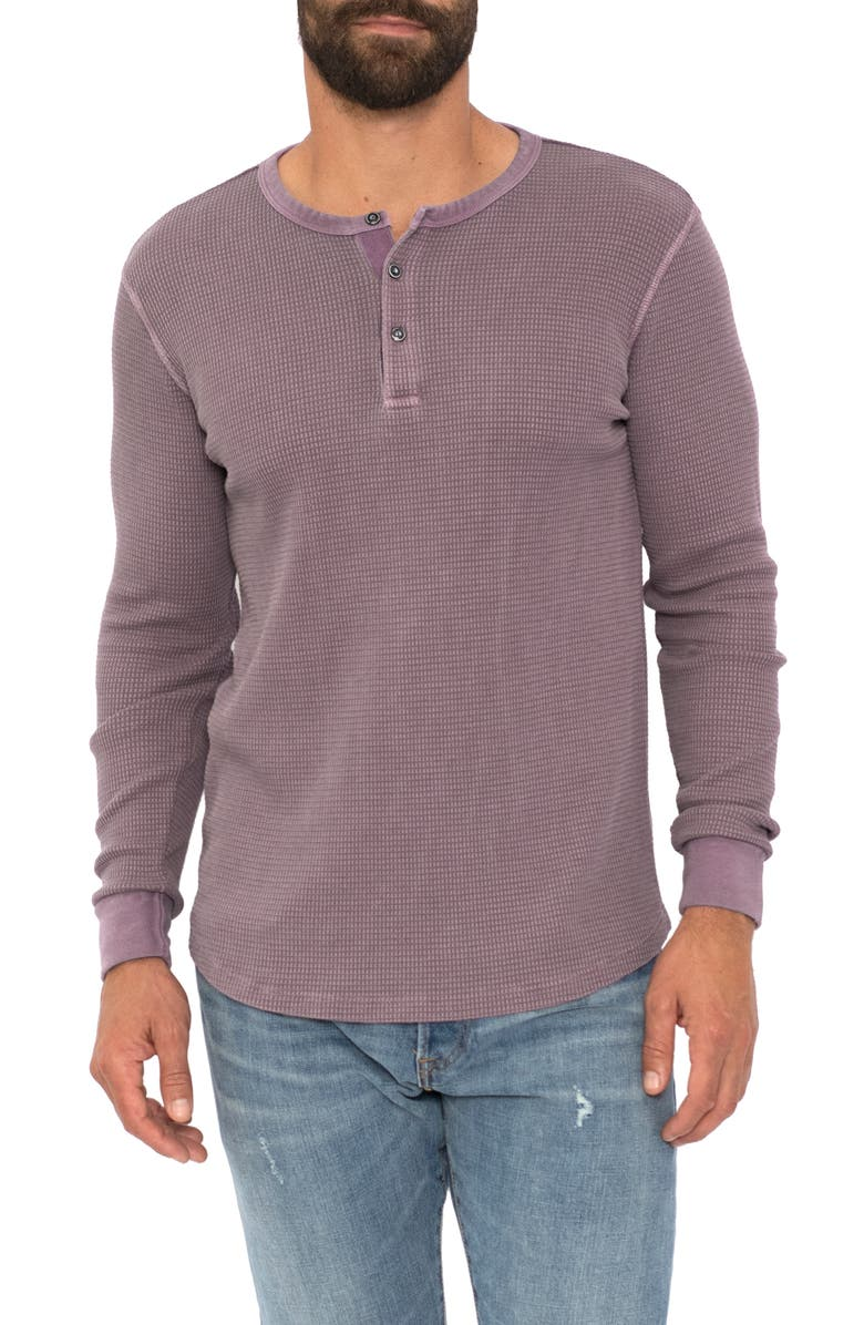 SOL ANGELES Long Sleeve Thermal Henley, Main, color, WINE