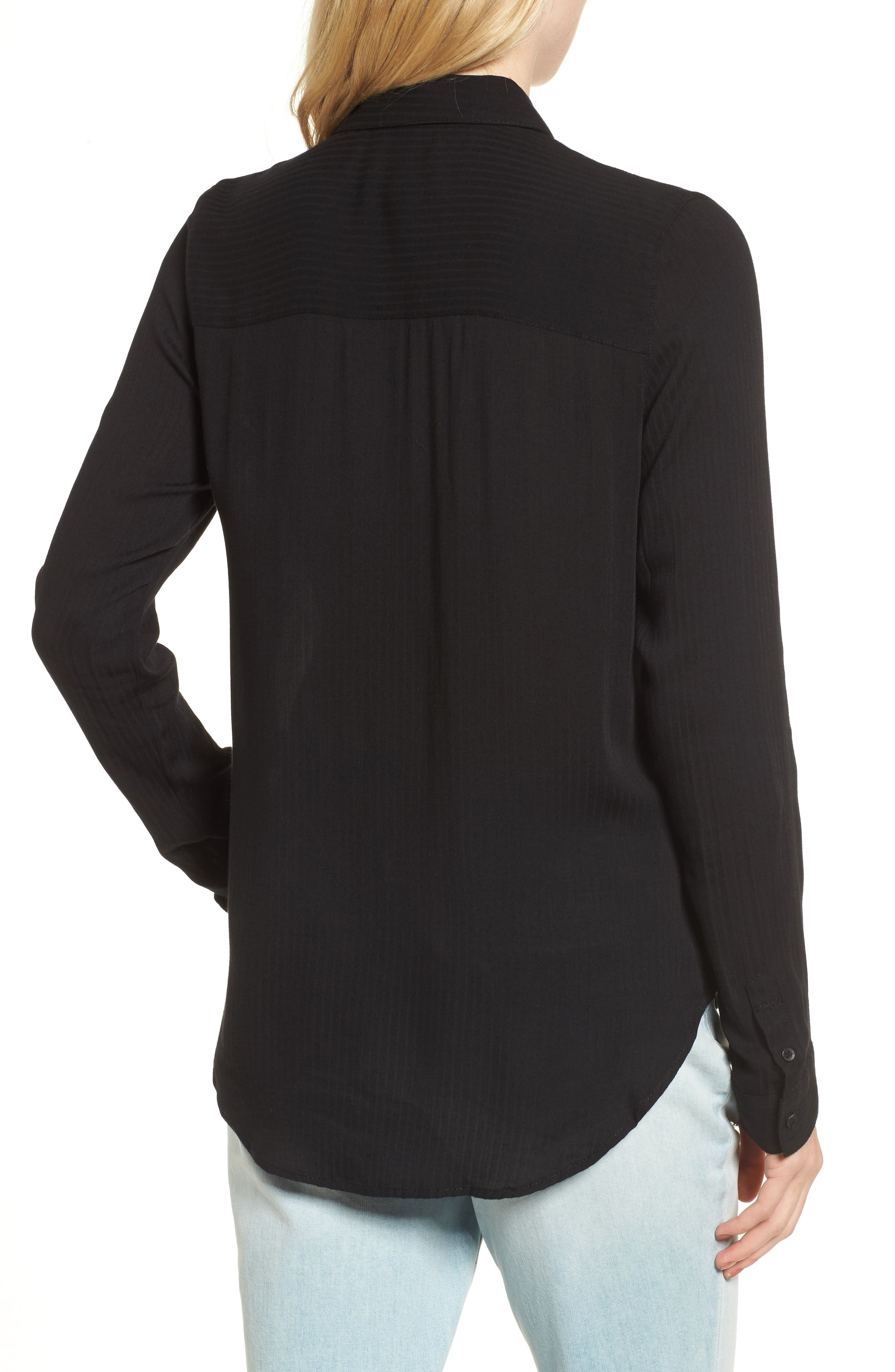 ,                             Dobby Classic Shirt,                             Alternate thumbnail 2, color,                             BLACK
