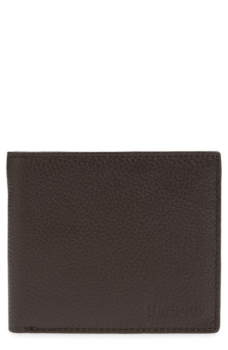 BARBOUR Amble Leather RFID Wallet, Main, color, 201