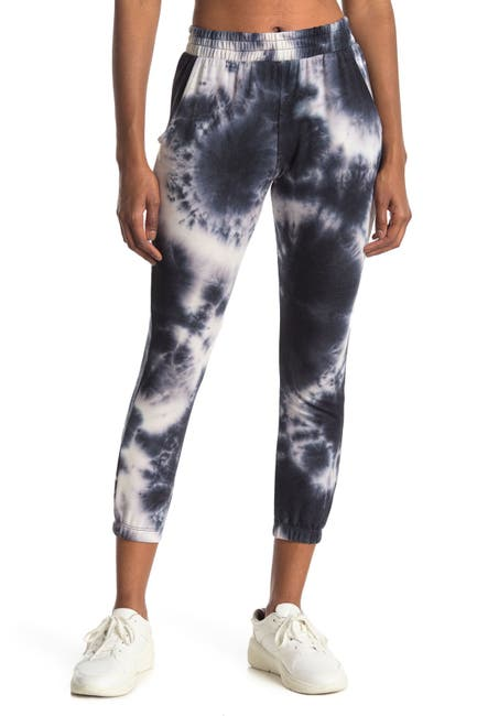 Image of Socialite Printed Cropped Joggers