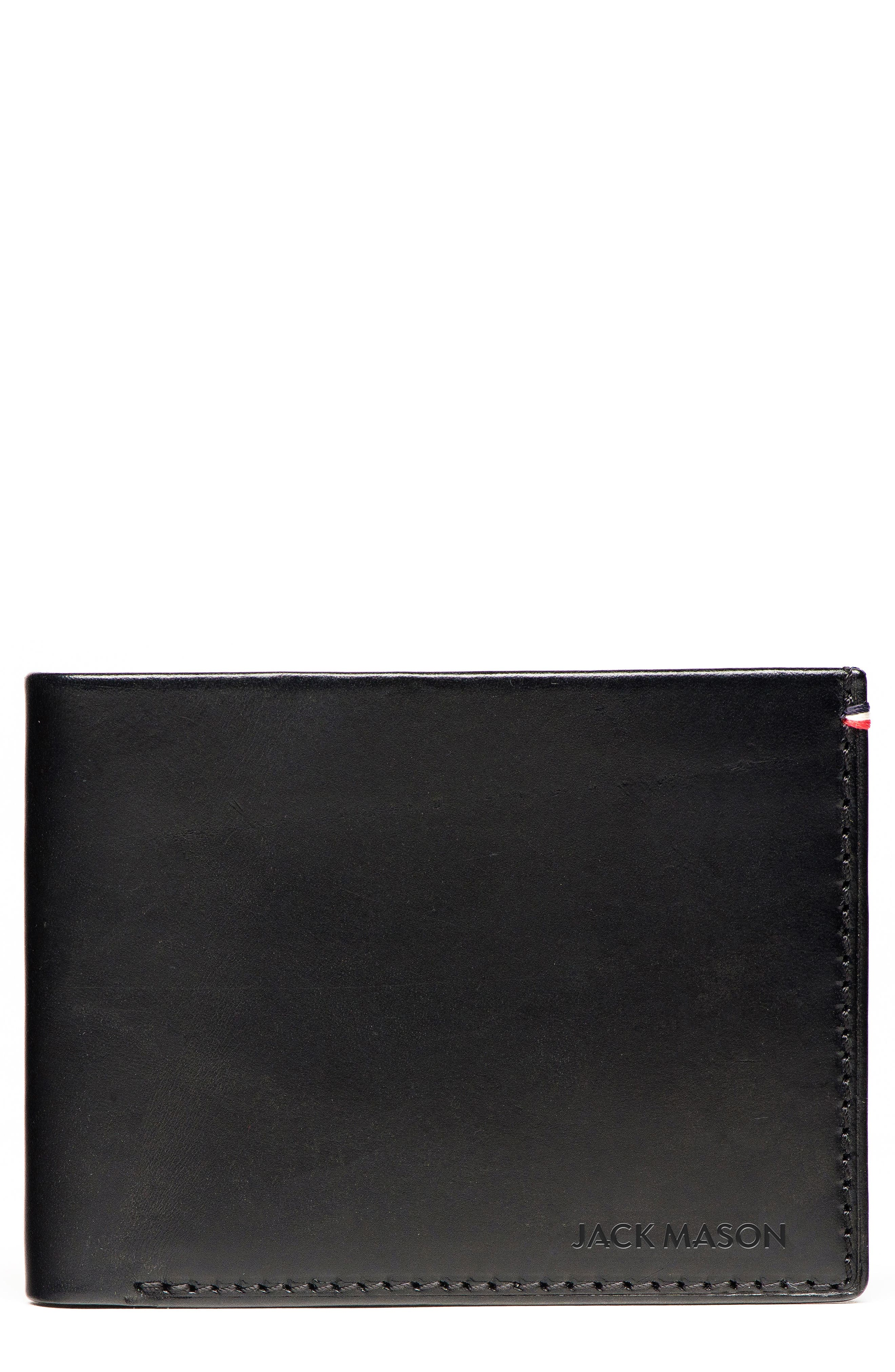 Vacchetta Lux Leather Bifold Wallet, Main, color, 001