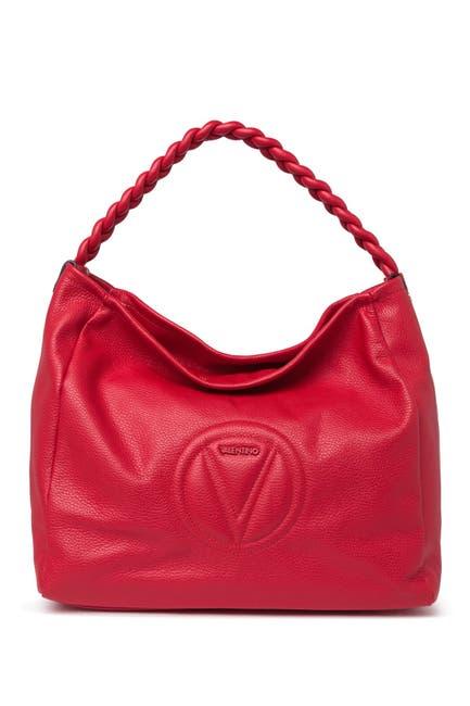 Image of Valentino By Mario Valentino Braid Dollaro Classic Handbag