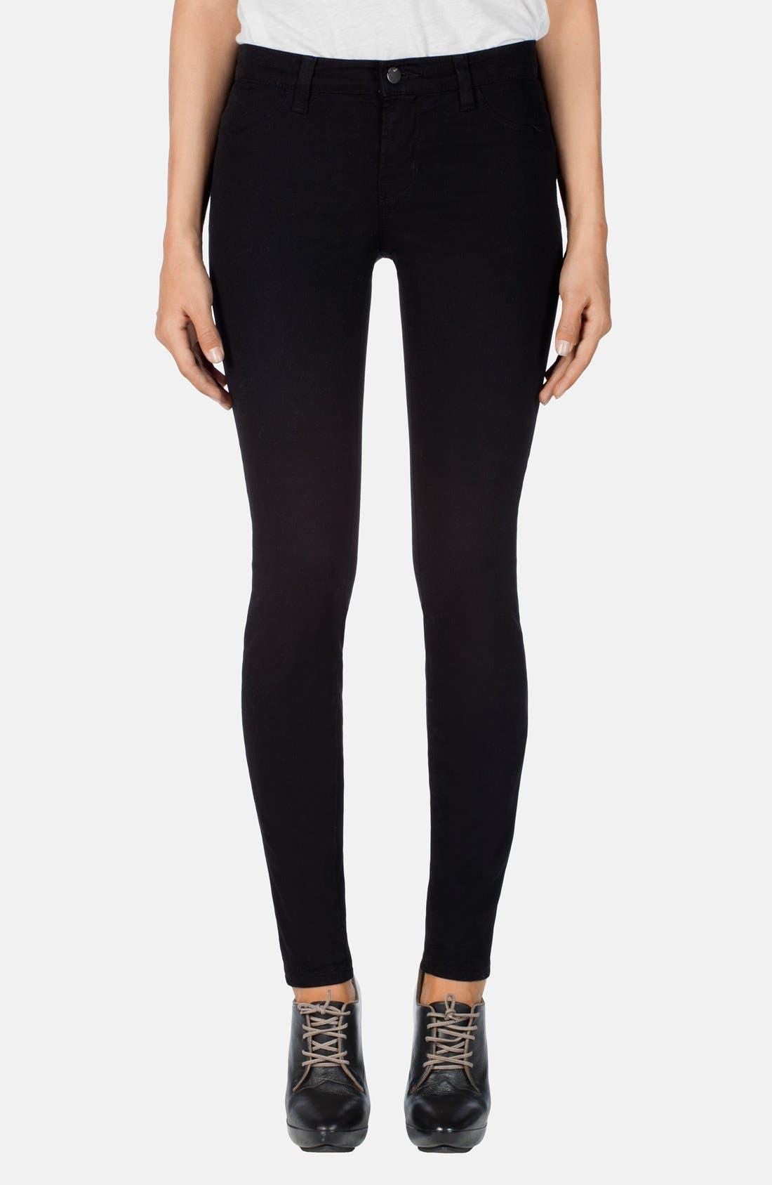 ,                             '485' Mid Rise Super Skinny Jeans,                             Main thumbnail 2, color,                             002