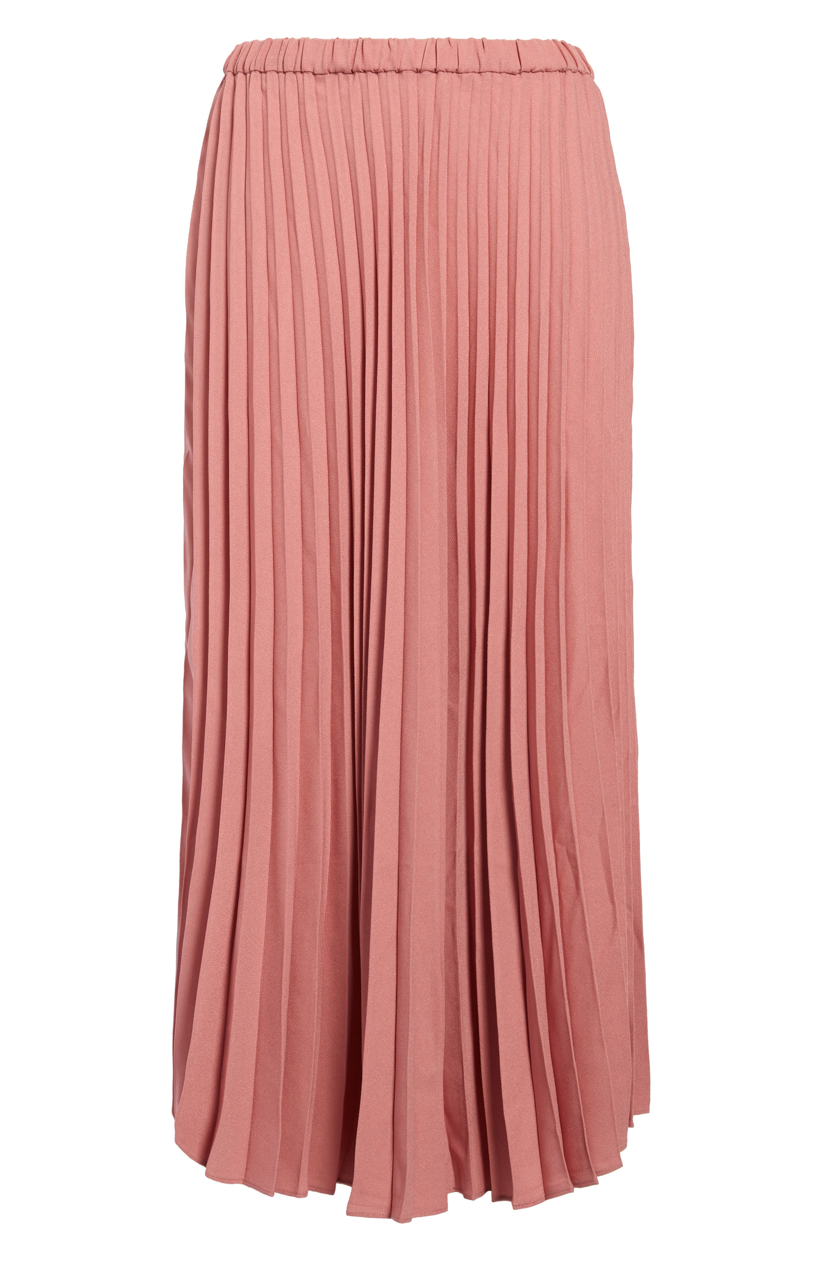 Accordion pleats enhance the swish and sway of this effortless pull-on skirt cut from lightweight crepe into a graceful, calf-grazing midi length. Style Name: Halogen Pleated Midi Skirt (Regular & Petite). Style Number: 5794831. Available in stores.