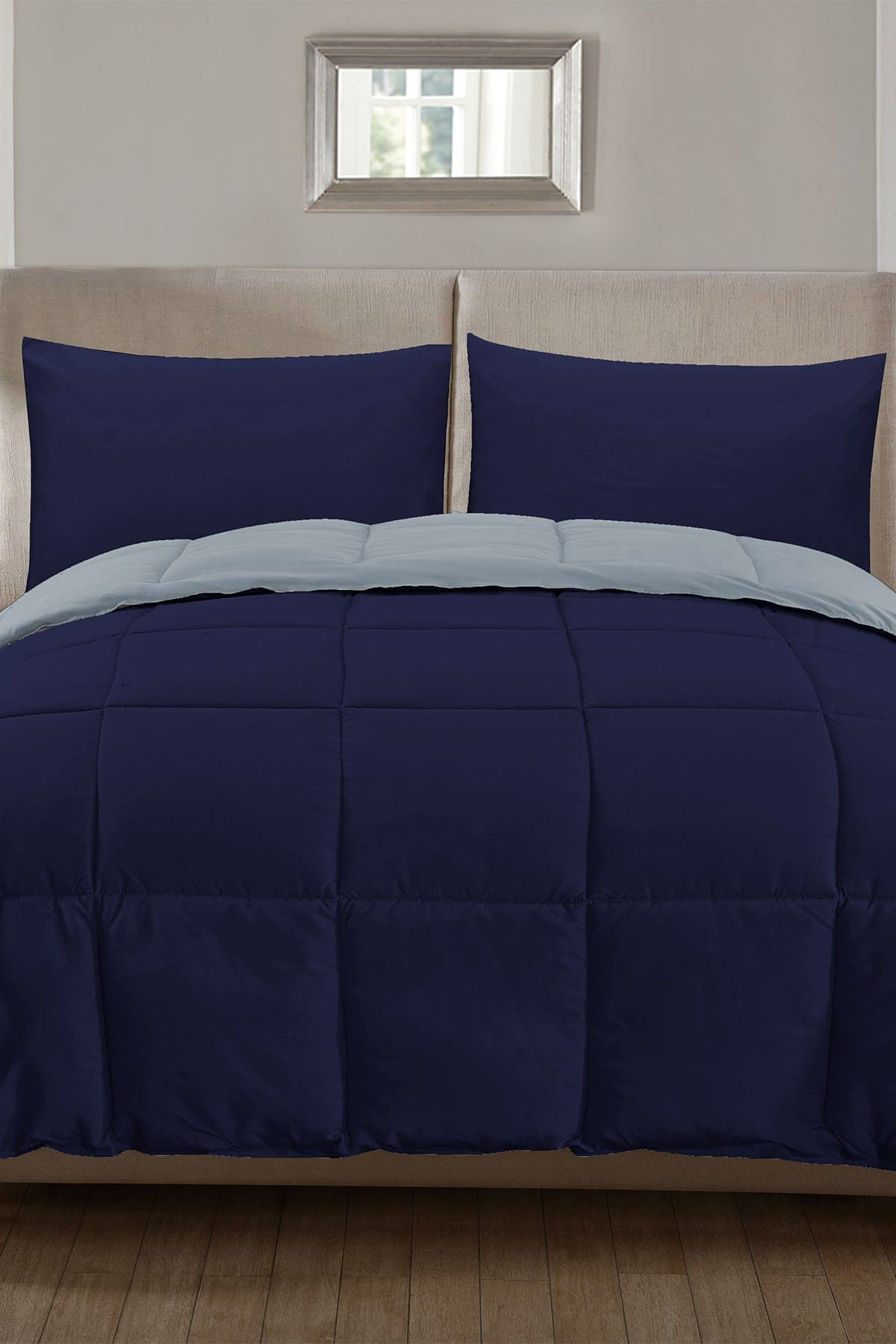 Duck River Textile Full Jackson Down Alternative Comforter Set Dark Blue Light Blue Nordstrom Rack