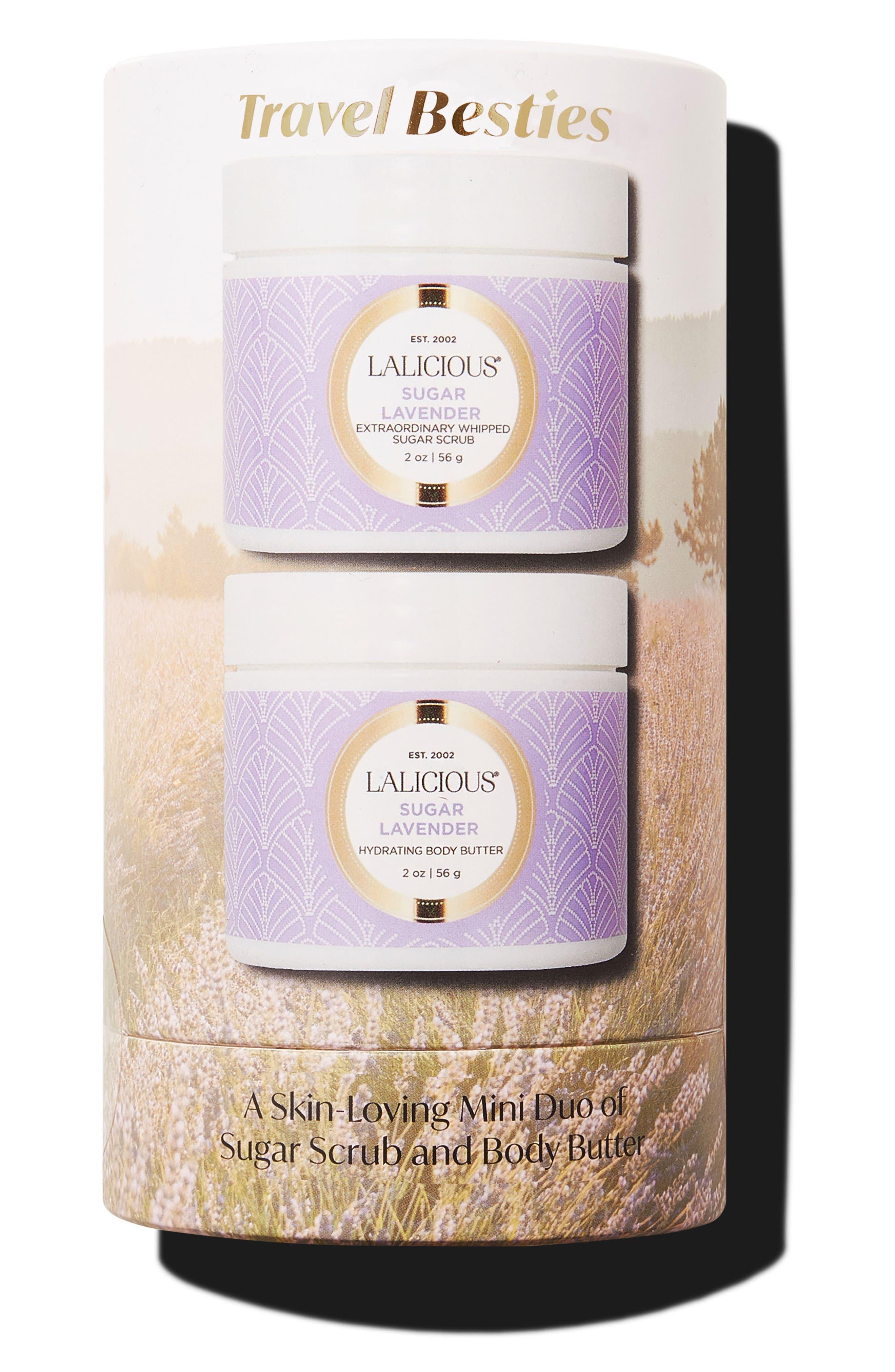 Sugar Lavender Travel Size Body Butter & Sugar Scrub Set