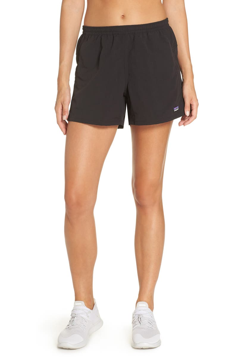 PATAGONIA Baggies Water Repellent Shorts, Main, color, BLACK