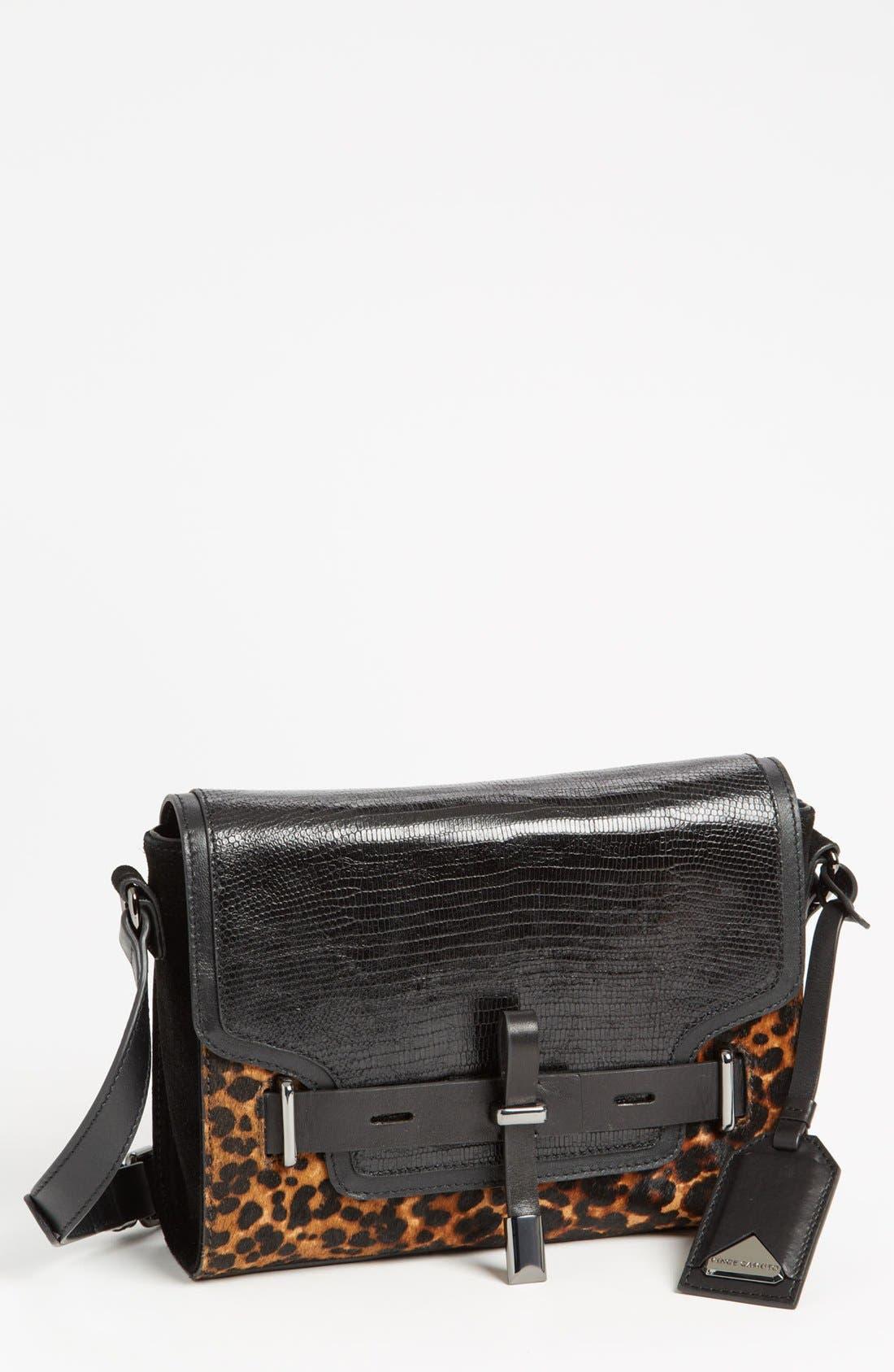 ,                             'Max' Leather Crossbody Bag,                             Main thumbnail 4, color,                             019