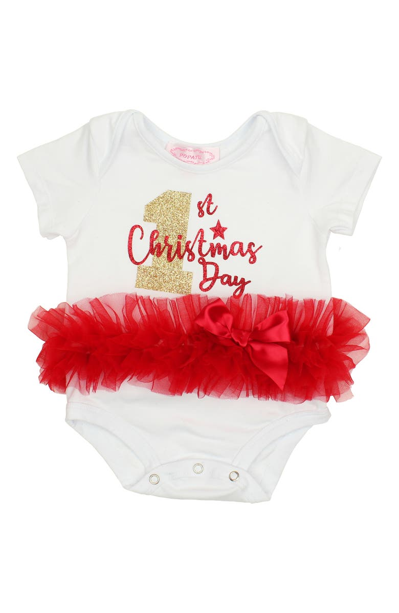 POPATU First Christmas Day Tutu Bodysuit, Main, color, 106