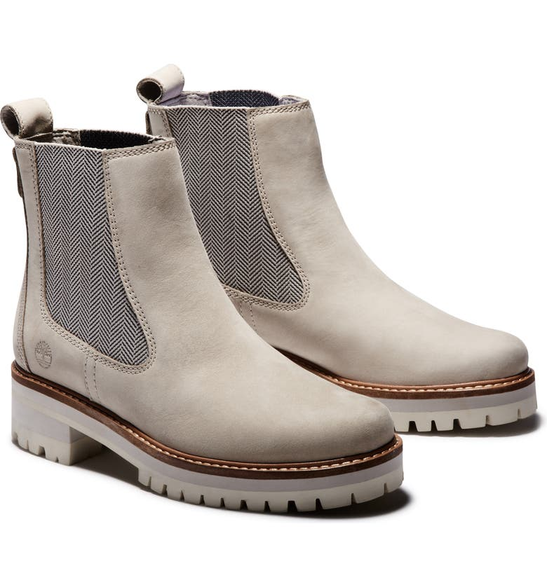 TIMBERLAND Courmayeur Valley Chelsea Boot, Main, color, LIGHT TAUPE NUBUCK LEATHER