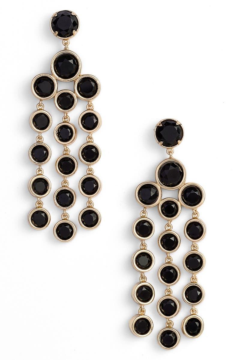 KATE SPADE NEW YORK chandelier earrings, Main, color, 001
