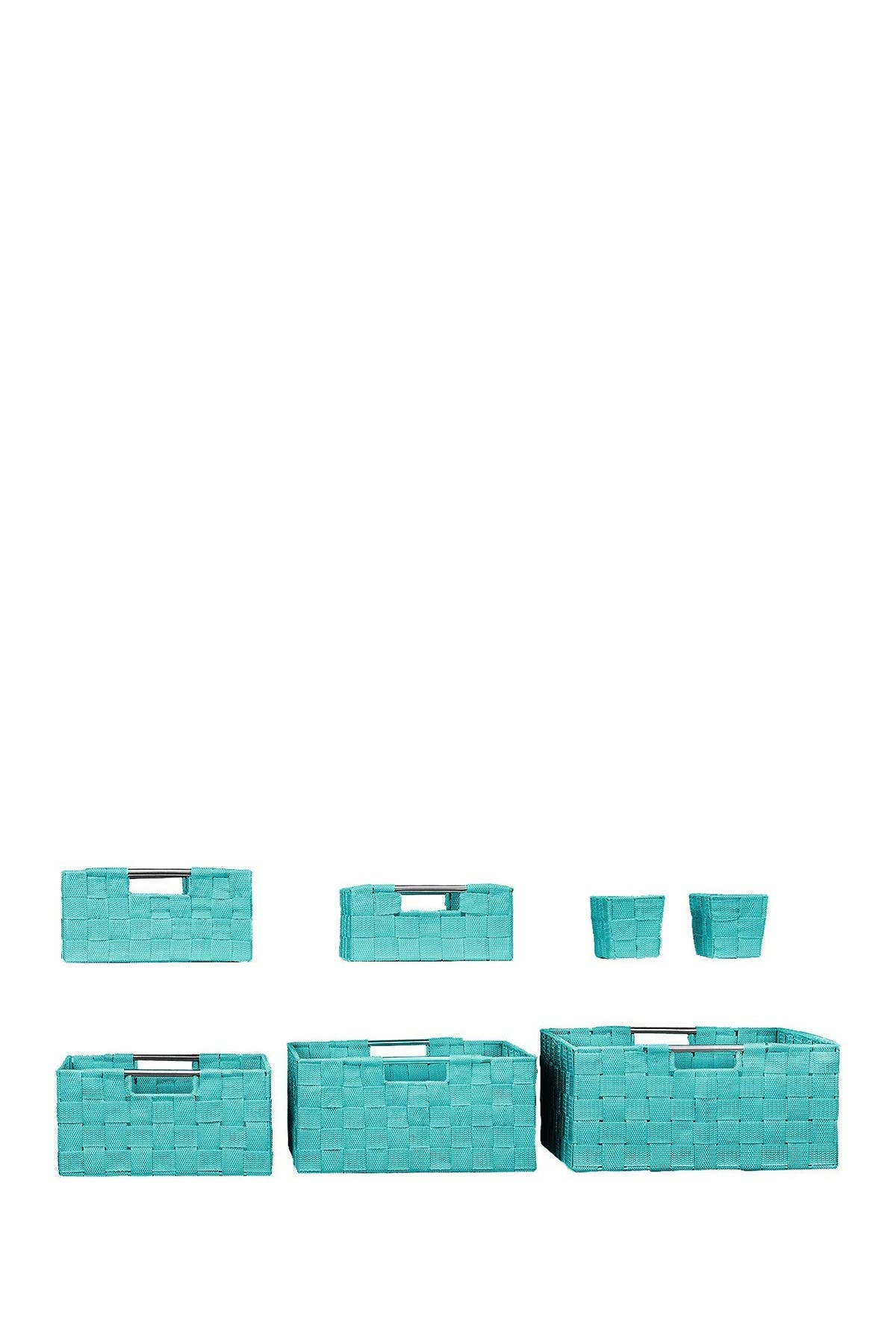 Image of Sorbus Aqua Weave 7-Piece Basket Set