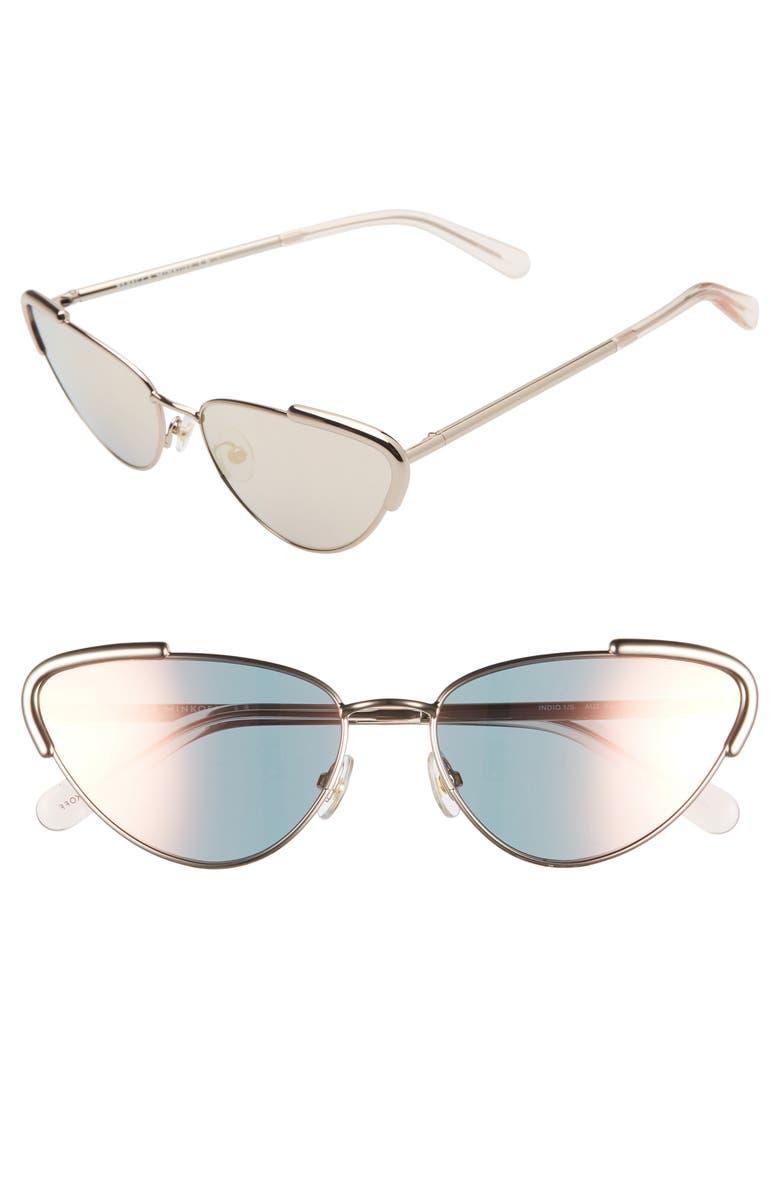 REBECCA MINKOFF Indio1 59mm Cat Eye Sunglasses, Main, color, GOLD/ MULTI