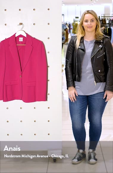 Notch Collar Milano Knit Jacket, sales video thumbnail