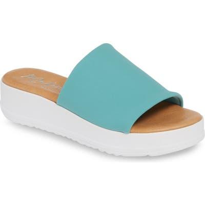 Matisse Paradise Slide Sandal, Blue/green