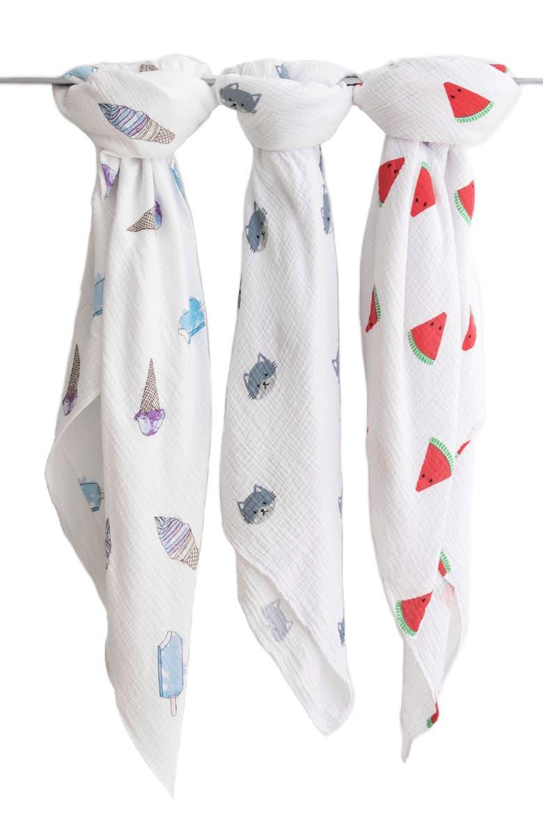 MASEK BABY 3-Pack Swaddles, Main, color, MULTI