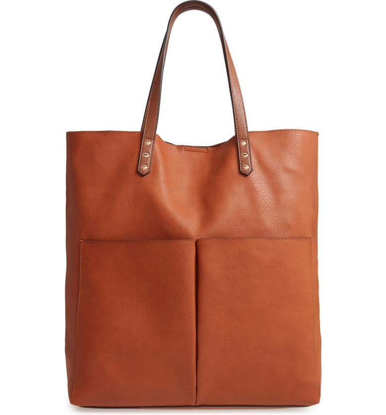 SOLE SOCIETY Lucie Faux Leather Tote, Main, color, 200