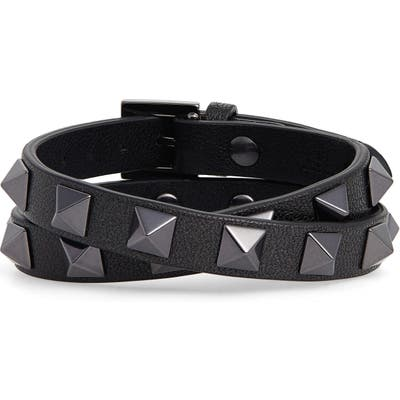 Valentino Rockstud Double Leather Bracelet