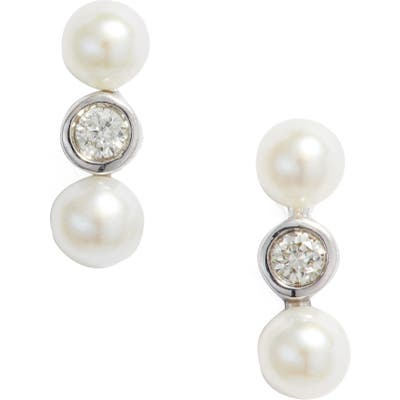 Dana Rebecca Designs Diamond And Pearl Stud Earrings