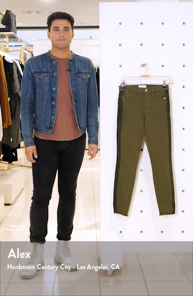 Le High Skinny Raw Edge Insert High Waist Skinny Jeans, sales video thumbnail