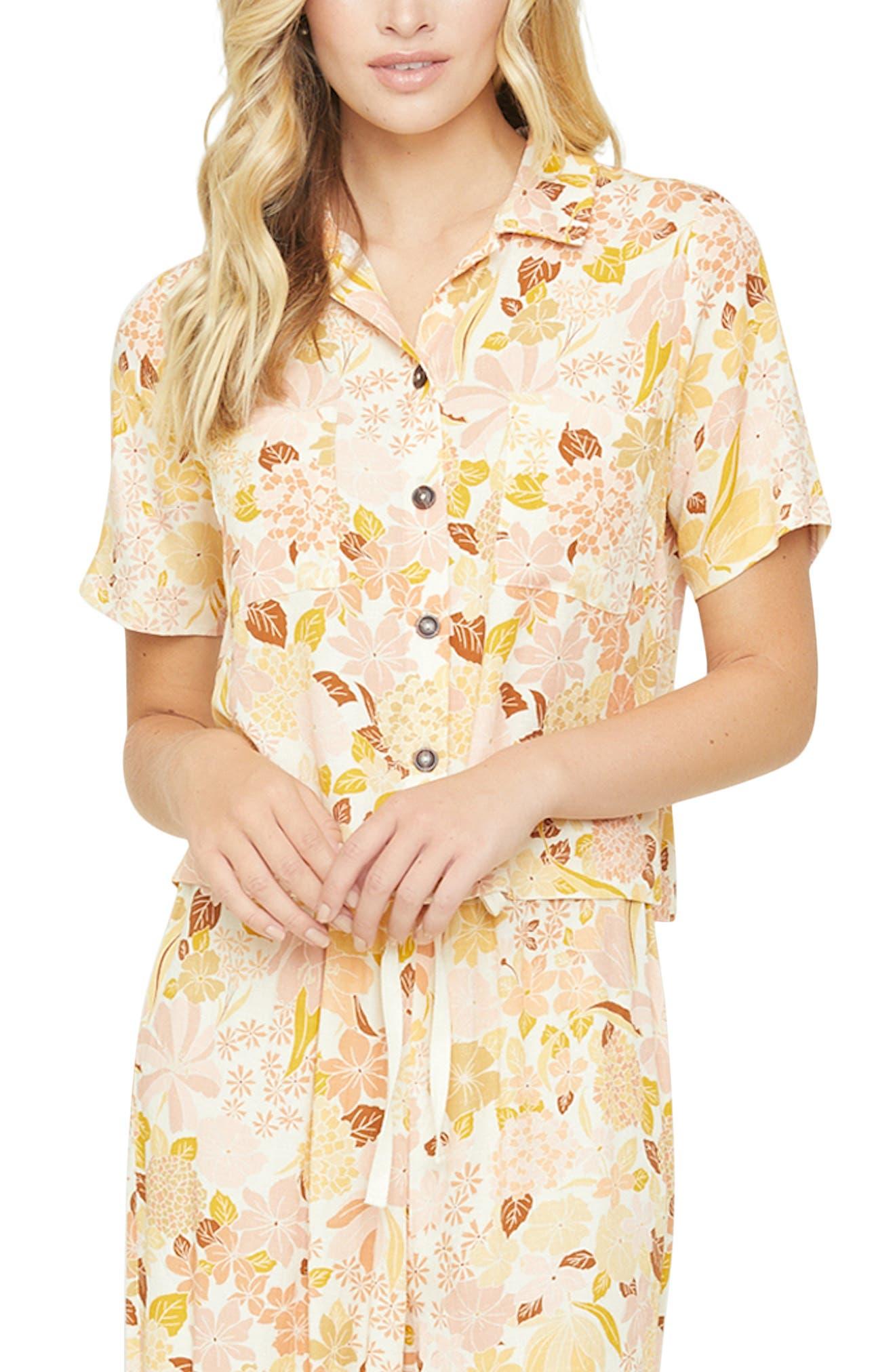 Women's Lost + Wander Sorrento Floral Shirt